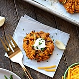 Baked Cheddar Sweet Potato Fritters