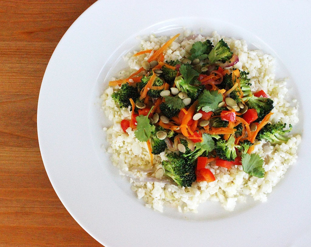 "Lunch and Dinner: Cauliflower ""Rice"" Stir-Fry"