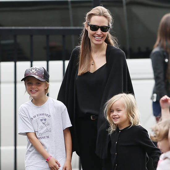 Angelina Jolie With Shiloh and Vivienne at Fox Studios