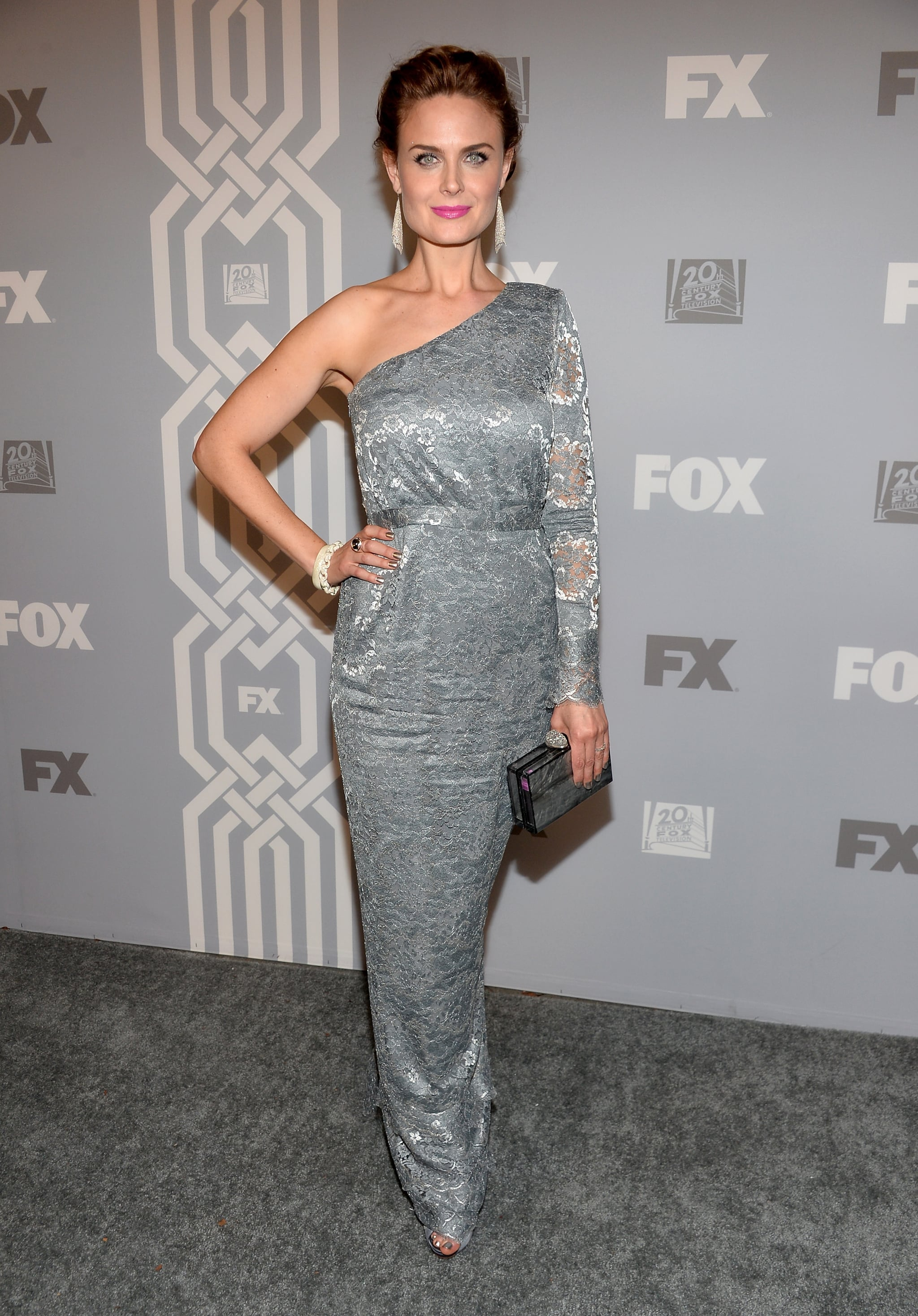 Emily Deschanel joined her sister Zooey at the Fox bash.