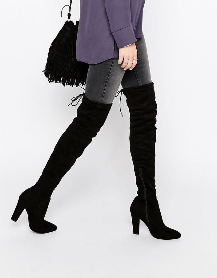 Public Desire Olivia Tie Back Heeled Thigh High Boots ($76)