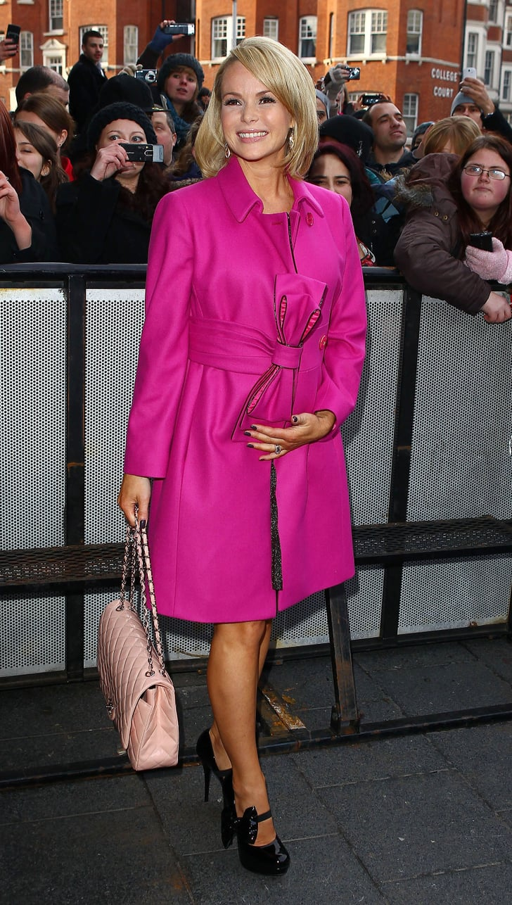 pictures of pregnant amanda holden at britain u0026 39 s got talent