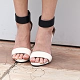Ahna O'Reilly wore black-and-white Bionda Castana sandals.