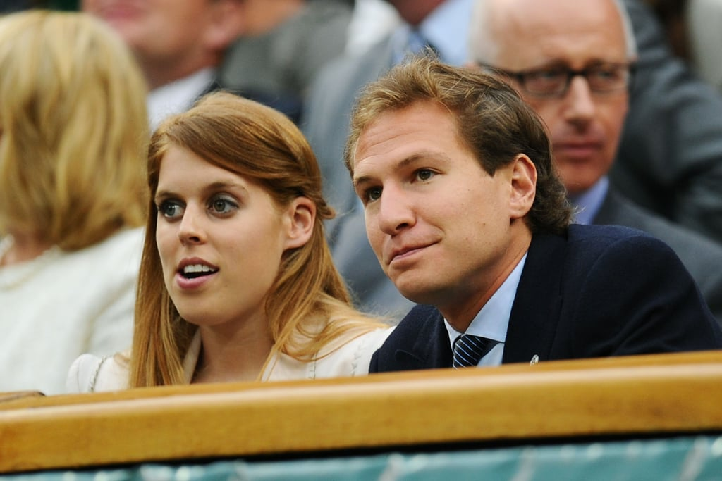 Princess Beatrice and Dave Clark watched a tennis match in London.