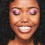 Glitter Strobing on Eyes: Deep Skin Tone