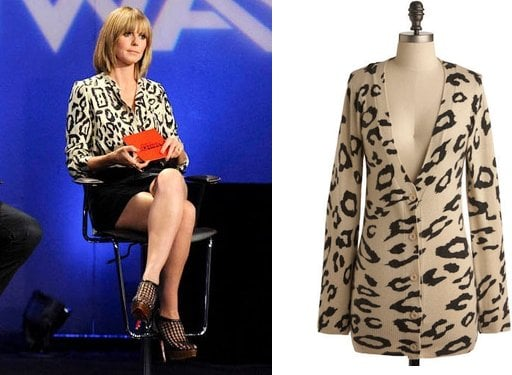 Heidi Klum Wears Oversized Leopard Print Chloé Top on Project Runway