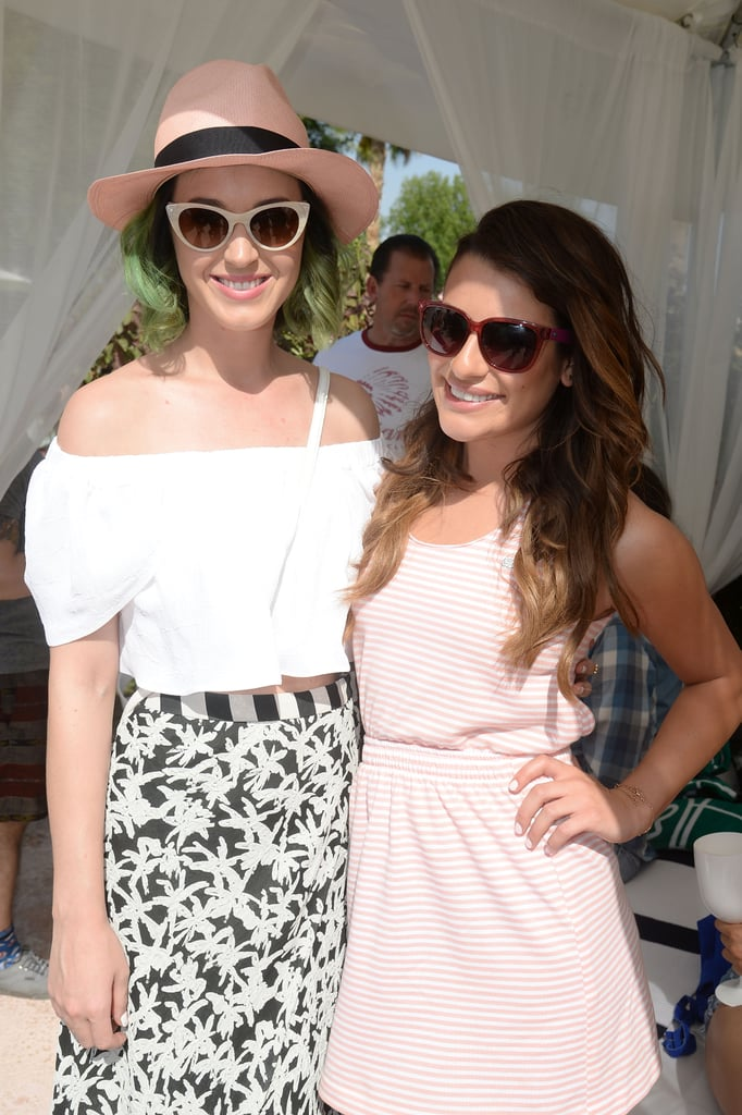She and Katy Perry soaked up the sun at Lacoste's Coachella pool party in April 2014.