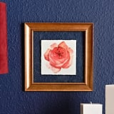 Rose With Wood Frame
