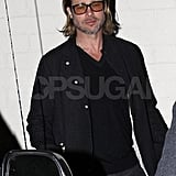 Brad Pitt stepped out of Mastro's Steakhouse in LA.