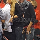 Anna Kournikova and Enrique Iglesias Show PDA Backstage