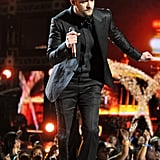 Justin Timberlake wore an all-black outfit.
