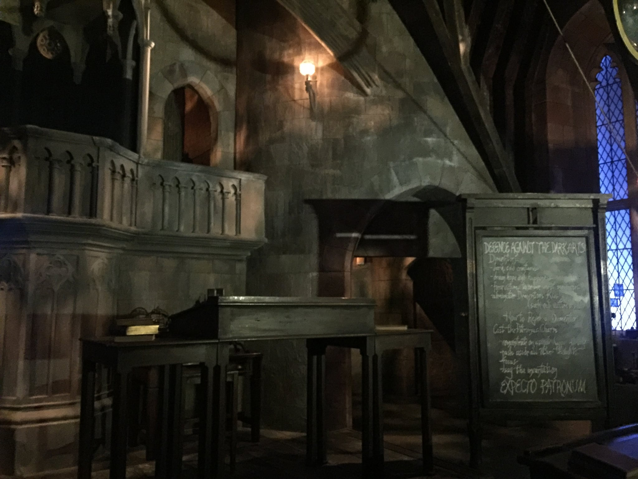 The Chalkboard And Desks From The Defense Against The Dark Arts Classroom The Harry Potter Movie Artifacts You Have To See If You Head To The New Wizarding World Popsugar