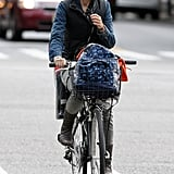 Naomi Watts loaded up her bike and took a ride through NYC.