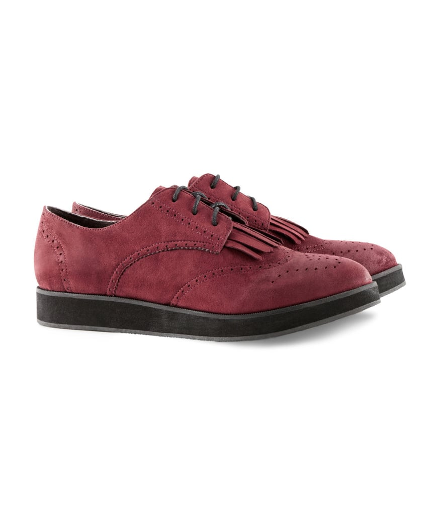 Loafers and oxblood — two things that happen to be a huge Fall trend — are perfectly combined in these H&M Suede Brogues ($30).