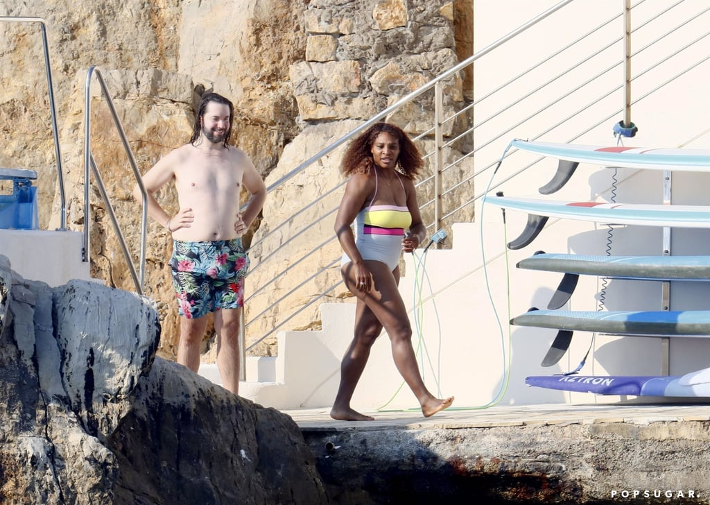 Serena Williams Wears One-Piece Swimsuit on France Vacation