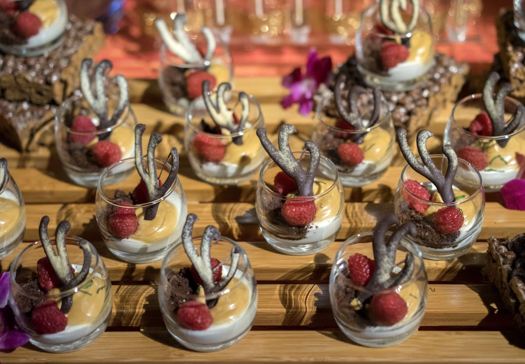 Wolfgang Puck showed off his Oscar creations.
