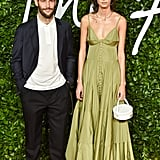 Simon Porte Jackson and Mica Arganaraz at the British Fashion Awards 2019