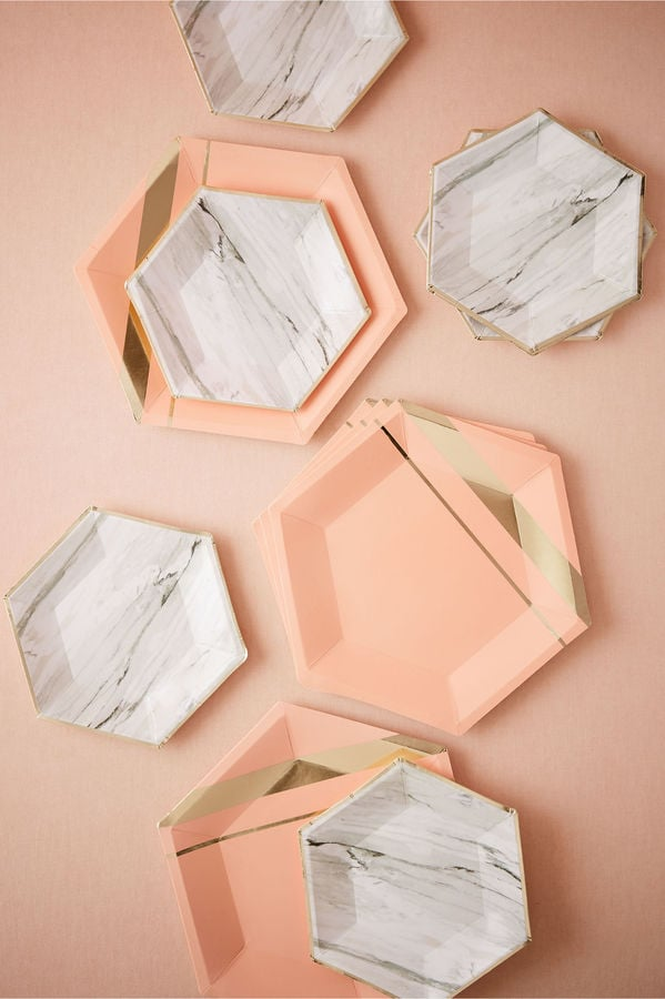 BHLDN Hexagonal Paper Plates