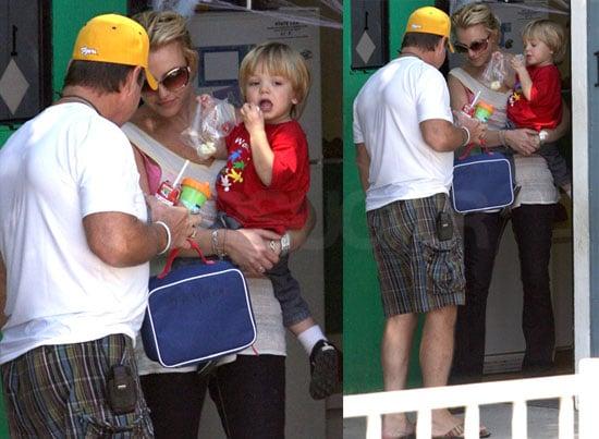Photos of Britney Spears Picking Up Jayden James Spears in LA