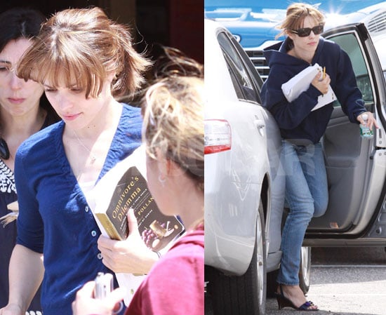 Photos of Rachel McAdams on the Set of Morning Glory in NYC