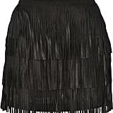 Alice + Olivia Lavana Fringed Suede Mini Skirt ($347)