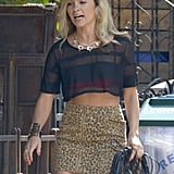 Lindsey Gort went back to work on the second season of The Carrie Diaries in NYC on Wednesday.