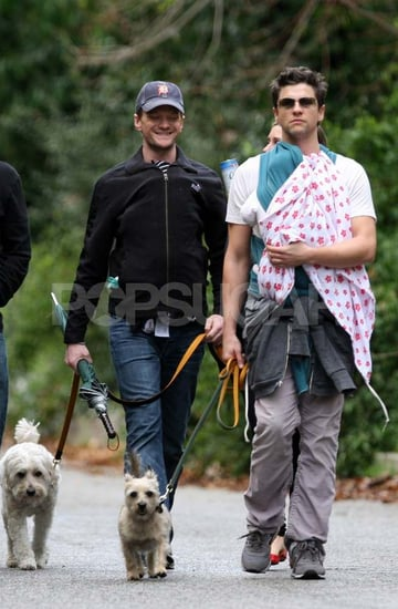 Pictures of Neil Patrick Harris and David Burtka With Twins Gideon and Harper in LA