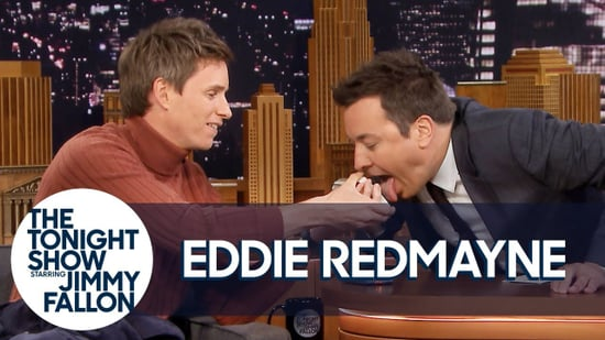 Eddie Redmayne Performing Magic Trick on Jimmy Fallon Video
