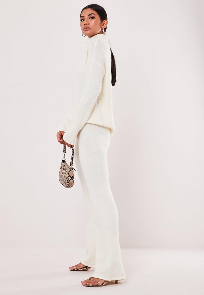 Ivory Knit Sweater and Pants Set