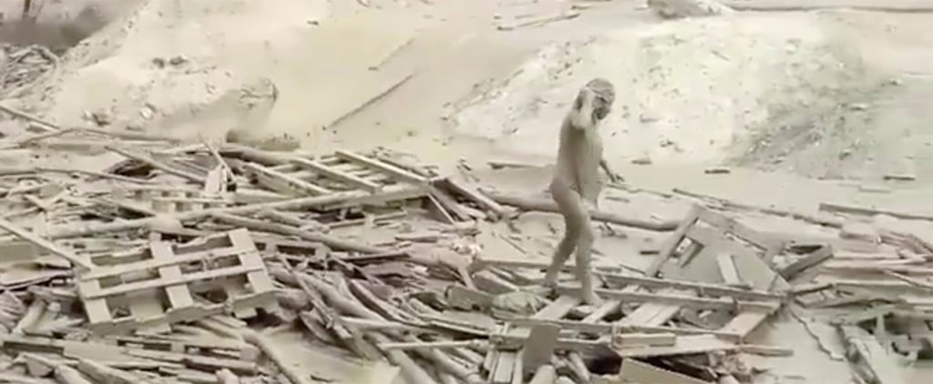 """This Crazy Video Shows How a """"Warrior"""" Woman Narrowly Escaped a Mudslide"""