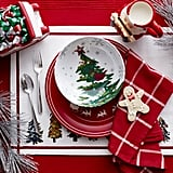 Complete your tablescape with a holiday display of Christmas trees, Santa, and of course, gingerbread men.
