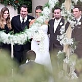 Chris Kirkpatrick had all four of his former *NSYNC members — Justin Timberlake, JC Chasez, Lance Bass, and Joey Fatone — as his best men when he married Karly Skladany in November 2013.