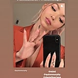 Dove Cameron's Black-Tipped French Manicure