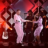 Sam Smith and Normani at KIIS FM's 2019 Jingle Ball in LA