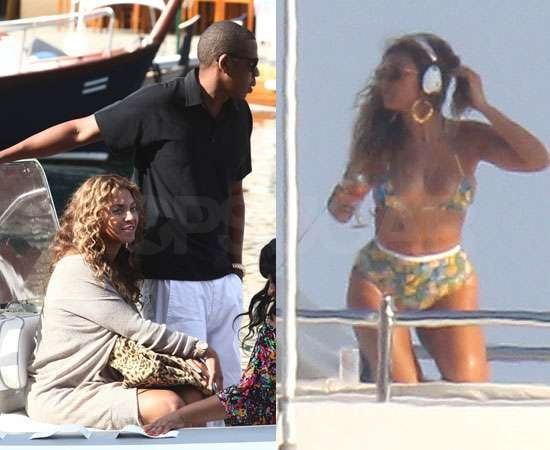 Pictures of Beyonce in Bikini With Jay-Z on Yacht in South of France