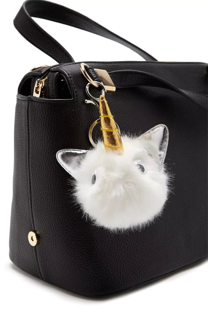 Forever 21 Faux Fur Unicorn Keychain