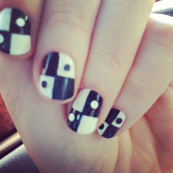 Zooey Deschanel's Nail Art at Emmys 2013 | Pictures
