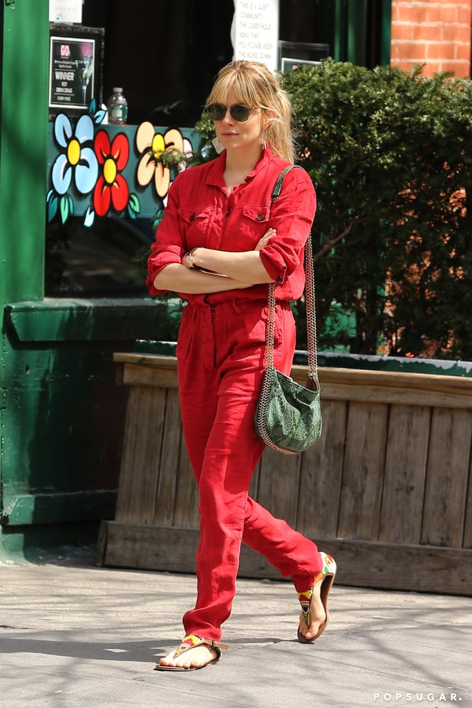 Sienna Miller went for a stroll in NYC.