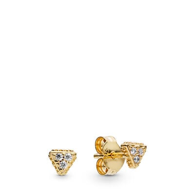 Pandora Sparkling Triangles Stud Earrings