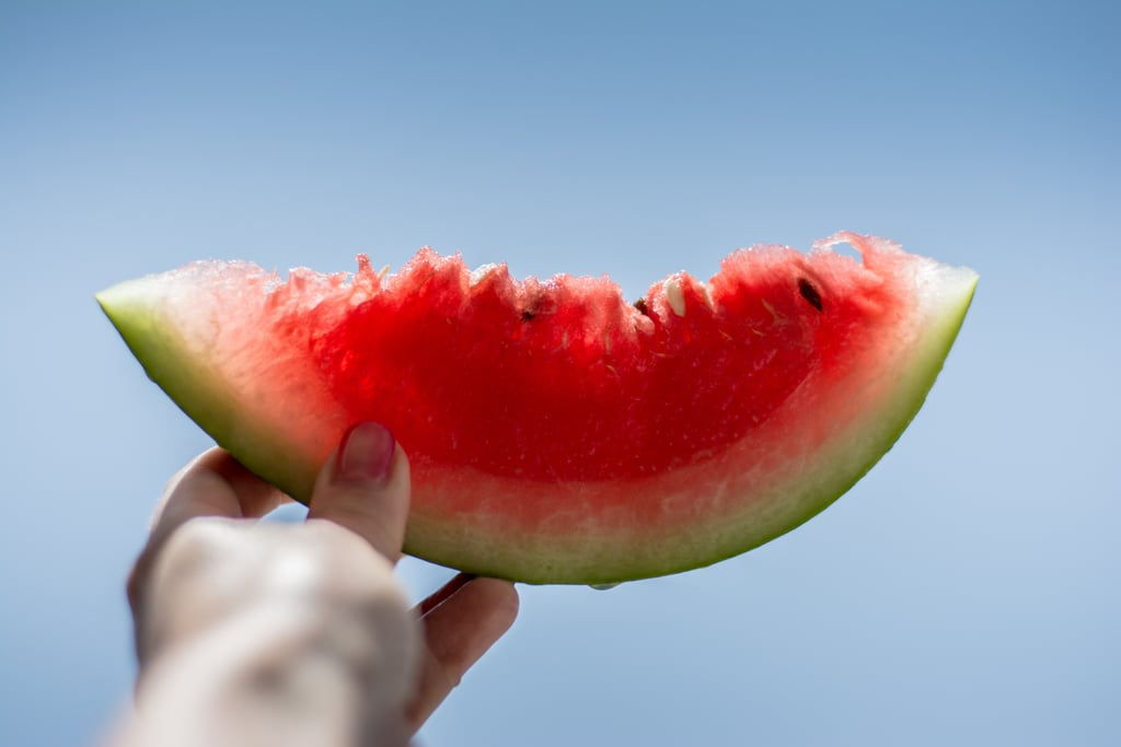 Eat a slice of watermelon.
