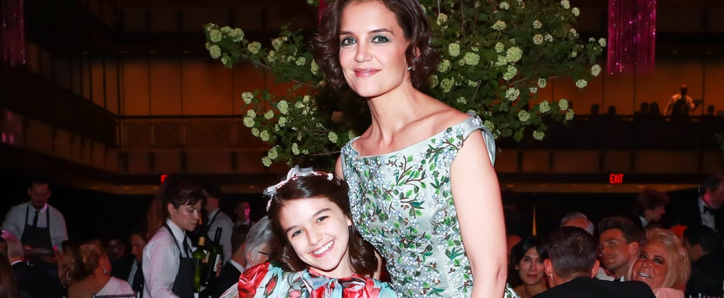 Katie Holmes and Suri Cruise Wearing Floral Dresses
