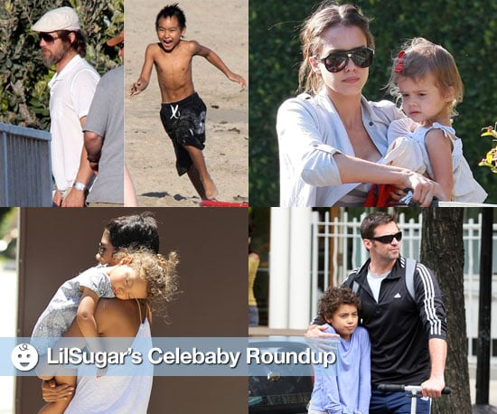 Pictures of Brad Pitt, Maddox Jolie-Pitt, Halle Berry, Nahla Aubry, Jessica Alba, Honor Warren, and Hugh Jackman