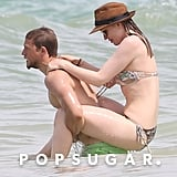 Charlie Hunnam gave girlfriend Morgana McNelis a lift while in Hawaii in May 2018.