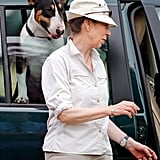 Princess Anne With Her English Bull Terrier