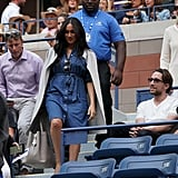Meghan Markle Wearing a Denim Dress at the US Open
