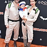 Matthew Morrison and Renee Puente as Ghostbusters