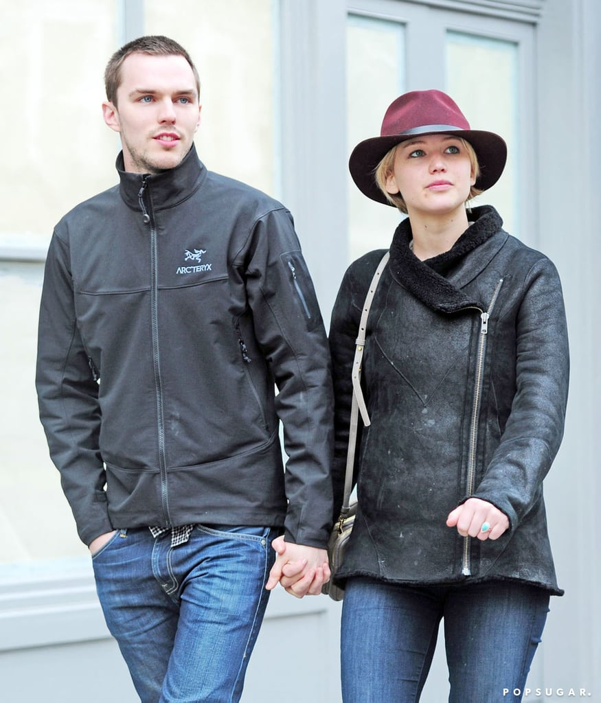 d5a8de0f4899 Jennifer Lawrence and Nicholas Hoult With Tom Ford in London ...