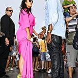 Kanye West, Kim Kardashian Pink Dress: Christ The Redeemer