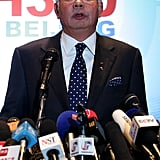 Malaysian Prime Minister Najib Razak addressed the media at a press conference on Saturday.