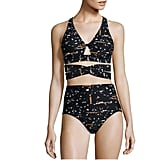 Dazzle in Proenza Schouler's Two-Piece Broken Text Bikini ($350).